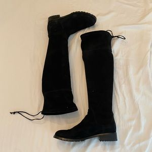 Blondo Black Suede Over The Knee Boots